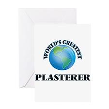 World's Greatest Plasterer Greeting Cards