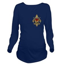Monogram C Fleur-De- Long Sleeve Maternity T-Shirt
