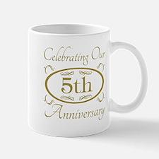 5th Wedding Anniversary Mugs