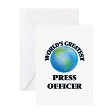 World's Greatest Press Officer Greeting Cards