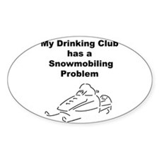Snowmobile Oval Decal