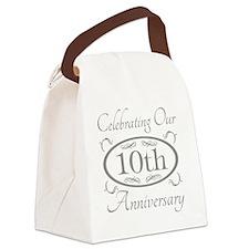 10th Wedding Anniversary Canvas Lunch Bag