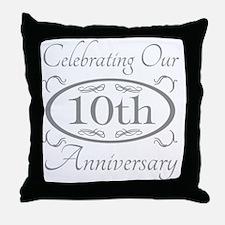 10th Wedding Anniversary Throw Pillow