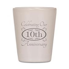10th Wedding Anniversary Shot Glass