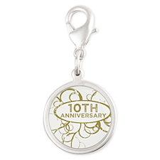 10th Wedding Anniversary Charms