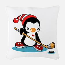 Ice Hockey (6) Woven Throw Pillow