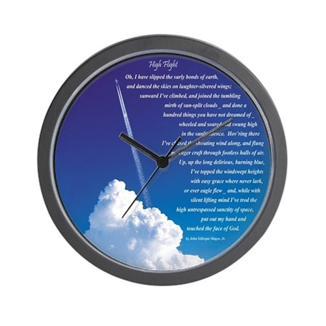 """""""High Flight"""" 3 Wall Clock"""