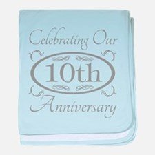 Cute 10th anniversary baby blanket