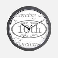 Unique 10th wedding anniversary Wall Clock