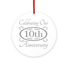Cool 10th wedding anniversary Ornament (Round)