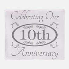 Cute 10th wedding anniversary Throw Blanket