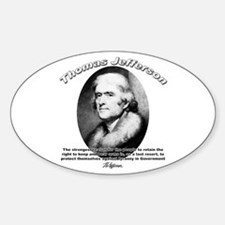 Thomas Jefferson 18 Oval Decal