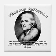 Thomas Jefferson 18 Tile Coaster