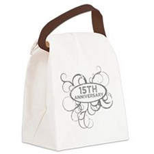 15th Wedding Anniversary Canvas Lunch Bag