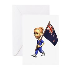 New Zealand Girl Greeting Cards (Pk of 10)