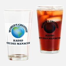 Unique I love radio Drinking Glass