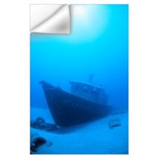 Hawaii, Maui, Wreck Of The St. Anthony In Blue Wat Wall Decal