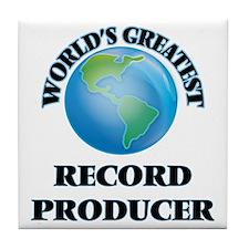 Cute World music Tile Coaster