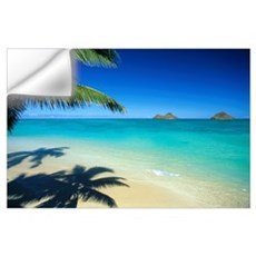 Hawaii, Oahu, Lanikai Beach With Calm Turquoise Wa Wall Decal