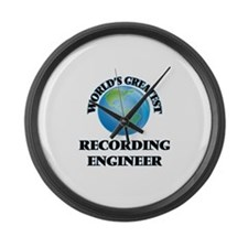 Unique Recording engineer Large Wall Clock