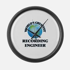 Funny Audio engineer Large Wall Clock