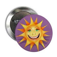 """Today's Weather: Happy"" Sun Button"