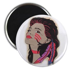 Indian Maiden 2 Magnet