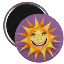 """Today's Weather: Happy"" Sun Magnet"