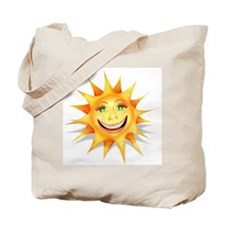"""Today's Weather: Happy"" Sun Tote Bag"