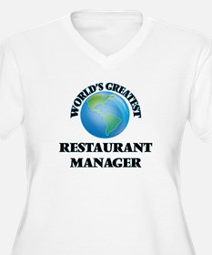 World's Greatest Restaurant Manager Plus Size T-Sh