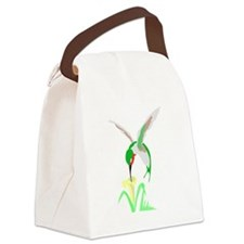 Green Hummingbird Canvas Lunch Bag