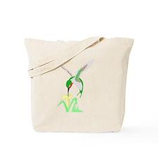 Green Hummingbird Tote Bag