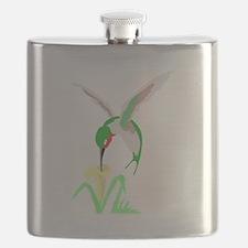 Green Hummingbird Flask