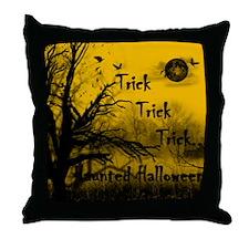 Haunted Halloween Throw Pillow