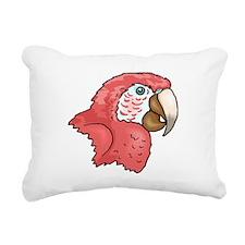 Macaw Head Rectangular Canvas Pillow