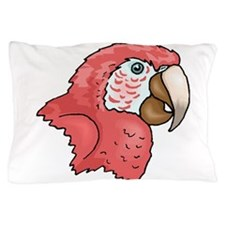 Macaw Head Pillow Case