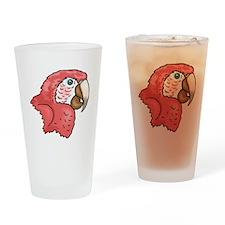 Macaw Head Drinking Glass