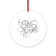 Unique Anniversary 15 years Ornament (Round)