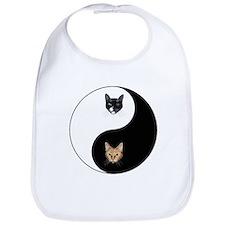 Black Cat & Tabby Yin Yang Bib