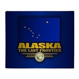 Alaskan flag Fleece Blankets