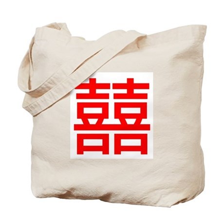 Double Happiness Symbol Tote Bag