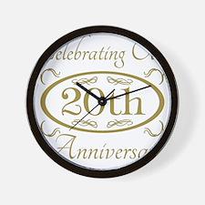Cool 1 year wedding anniversary Wall Clock