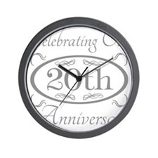 Cool 20th wedding anniversary Wall Clock