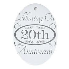 Cute Wedding anniversary Ornament (Oval)