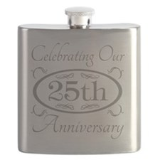 25th Wedding Anniversary Flask