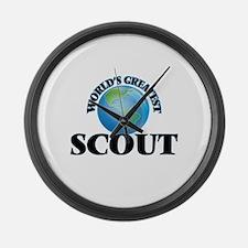 Cute Girls scout Large Wall Clock