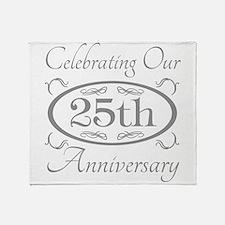 Cute 25th wedding anniversary Throw Blanket