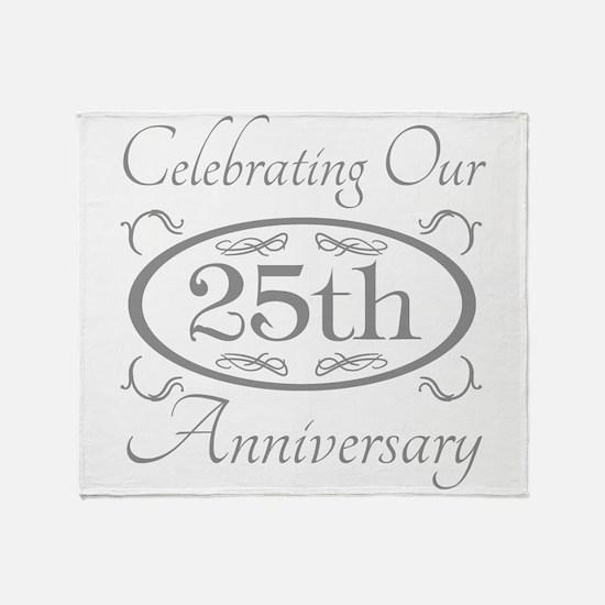 Unique 25 wedding anniversary Throw Blanket