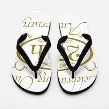 Cool 25th wedding anniversary Flip Flops