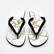 Funny 25th wedding anniversary Flip Flops